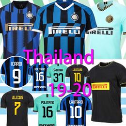 Milan jerseys inter online-Tailandia ALEXIS Lukaku LAUTARO SKRINIAR Inter Milán 2019 jerseys 2020 del jersey de fútbol Calcio GODIN Barella 2019 2020 camisas de fútbol top