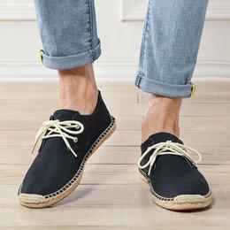Hommes Toile Chaussure D'été Respirant Mode Casual Mocassins Plats Conduisant Paresseux Confortable Espadrille Fishermans Lin Chaussures Sapatos Hombre ? partir de fabricateur