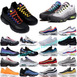 future boots Promo Codes - New Anniversary Wolf Grey 95OG PRM SE LV8 Black White Throwback Future Corduroy Panache OG Parra Neon mens womens running shoes sports Boots