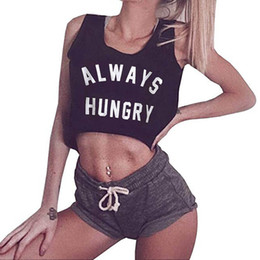 ee97ff4dad8bb Women Solid Sleeveless kawaii korean crop top summer top Fashion O-neck  Sling Vest Tank Shirt Letter Tops modis