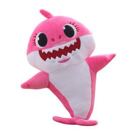 Ребенок акула пение плюшевые музыка звук ребенок акула плюшевые куклы мягкие детские мультфильм акула мягкие плюшевые игрушки петь английскую песню для детей подарок от Поставщики английский мультфильм для детей