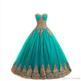 Real fotos Lace-up apliques de ouro Lace plea vestido de baile masquerade quinceanera vestidos de linho sem encosto até o chão sweet 16 pageant vestidos de