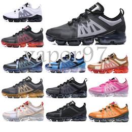 Kutu ile 2019 yeni tasarımcı erkek sneakers erkekler fly maxs kadınlar Moda lüks Dalga Koşucu spor ayakkabı örgü Hava Koşu Sneakers nereden maxs ayakkabıları tedarikçiler
