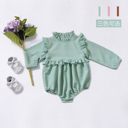 6751b19b0b4 sweet jumpsuits Coupons - 2019 Ins Baby girl clothes Rompers Ruffles Long  sleeve Sweet girls Jumpsuit