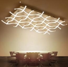 2019 plafonniers led plafonniers Acrylique nouveauté Rectangle plafonniers led pour salon chambre lamparas de techo led plafonnier luminaire lndoor éclairage LLFA plafonniers led plafonniers pas cher