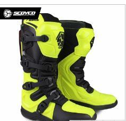 longs motori Sconti SCOYCO M-001 scarpe da corsa moto da corsa off-road stivali da cross Dirt bike Sport Rider motore stivali da moto in pelle finta