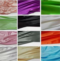 2019 weiße seide tüll perlen 34 Farben Qualität elastischen Stretch-Satin Material super weich imitieren Seide Satin Charmeuse Stoff für Kleid Meter