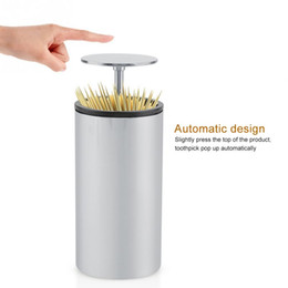 box toothpicks Promo Codes - Automatic Dispenser Toothpick Teeth Toothpickers Holder Container Household Dining Table Desktop Organizer Storage Box