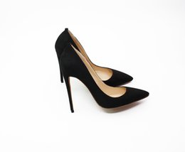 туфли на высоком каблуке размер 15 Скидка Высокое качество сексуальная мода замша с красным дном на высоких каблуках туфли многоцветные 8.5 10 12 см туфли на шпильках туфли на каблуках большой размер 40-46