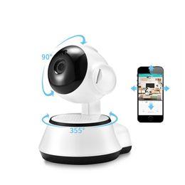 Беспроводная проводная камера cctv онлайн-Умный домашний монитор младенца обеспеченностью беспроволочная Миниая камера слежения камеры IP Wifi HD ночного видения CCTV аудио 2 путей