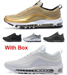 c1585b329737 2019 Wholesale (With Box) 97 Undftd Plus Silver Bullet OG QS Metallic air  Red Gold Black maxes Best Quality White 3M 97s Running Shoes