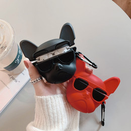 2019 étui arrière bricolage iphone Bulldog conception pour Apple AirPod Pro cas Ultraléger AirPod Protecteur Earpod Case Anti-drop pour AirPod Pro Case