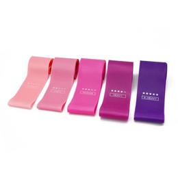 2019 розовые полосы сопротивления Полосы сопротивления Розовый цвет градиента для кожи Упражнения для фитнес-упражнений Loop Bands 5 Level Sports Gum Rubber скидка розовые полосы сопротивления