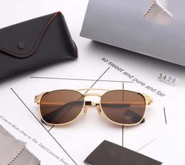 Wayfarer espelho óculos de sol homem on-line-54 MM 3429 lentes de vidro Wayfarers óculos de sol RAYS homens mulheres marca Cat Eye bandas de óculos de sol BEN espelho Gafas de sol BANS com casos