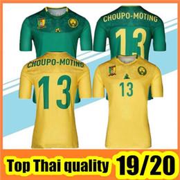 Equipos de camiseta de fútbol verde online-2019/20 Camerún camiseta de fútbol 19/20 Camerún Maillot De Foot Casa Verde # 9 Eto'o # 10 Camiseta de fútbol ABOUBAKAR Uniforme de fútbol del equipo nacional