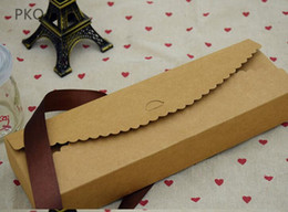 2020 emballage de papier kraft macaron boîte de papier kraft blanc 30pcs / lot Macaron biscuit boîte d'emballage de bonbons cotillons de mariage boîtes en carton Craft fournitures promotion emballage de papier kraft macaron