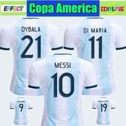 fußballhemden rabatt Rabatt Discount Thailand 2019 Argentinien Fußball-Trikot Copa America 2020 MESSI DYBALA HIGUAIN ICARDI Kinder-Fußball-T-Shirt für Kinder