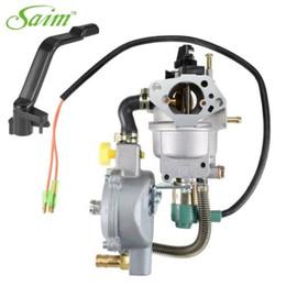 Benzinvergaser online-ZYHW New Dual Fuel Vergaser LPG NG Conversion Kit für Benzingenerator 4.5-5.5KW GX390 188F w Manuelle Choke