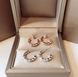 2019 metà orecchini orecchino SERPENTI design di lusso in argento sterling S925 con serpente a mezzo giro per orecchini da donna piccolo orecchino metà orecchini economici
