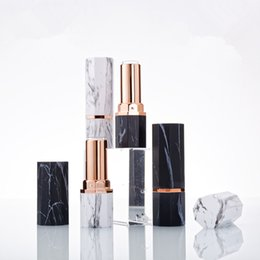 Nine-sided marbled Luxury Empty Lipstick Tube Lip Balm Tubes DIY Tube Lipgloss Cosmetic Containers Packaging Bottles F1699