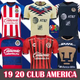2019 amerika fußball jersey fußball 19 20 Club America Fußballtrikots 2019 2020 Xolos deTijuana Heim Auswärts UNAM Guadalajara Chivas Trikot 19 20 Fußballtrikots rabatt amerika fußball jersey fußball