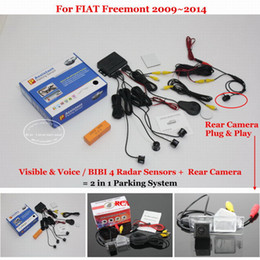 Bibi auto online-Liislee auto sensori di parcheggio + Rear View Backup Camera = 2 in 1 / visivo per Freemont 2009 ~ 2014 / BIBI allarme Parking System