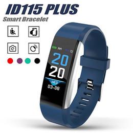 bracelets android Promotion ID 115 Plus Bracelet Intelligent Bracelet Sport Bracelet Fitness Activité Tracker Podomètre Moniteur De Fréquence Cardiaque Pour Moniteur de Pression Artérielle Pour Android iOS Dans la Boîte