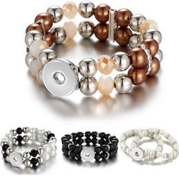 monili del branello del tasto Sconti commercio all'ingrosso 2019 più nuovo disegno snap bottoni all'ingrosso gioielli snap noosa 2 strati pezzi borda i braccialetti per le donne