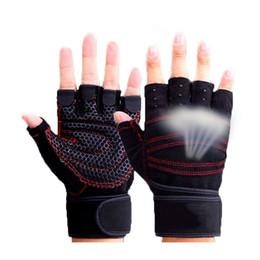 Gewichtheben handschuhe online-Halbe Finger Gymnastikhandschuhe Schwergewicht Sport Übung Gewichtheben Handschuhe Bodybuilding Training Sport Fitness Handschuhe