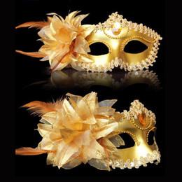 sexfedern Rabatt Sexy Diamant-venezianische Maske Venedig-Feder-Blumen-Hochzeit Karneval Partei-Leistungs-Kostüm Sex Lady Masken-Maskerade-Halloween