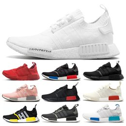 Adidas nmd human race Descuento Japón blanco Negro Oreo NMD Runner R1 Hombres Mujeres Diseñadores Triple blanco gris Og Clasic running zapatillas
