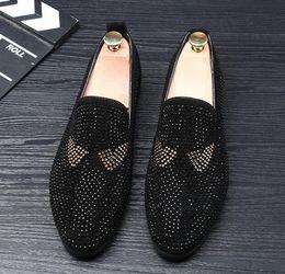 Diseñador de marca para hombre zapatos de cuero casual diseñador de la marca social adulto vestido de moda de conducción mocasines de lujo hombres desde fabricantes