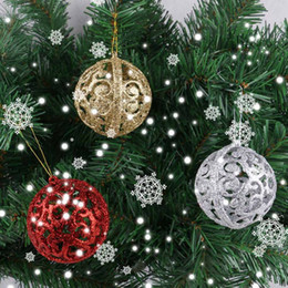 2019 set di sfera di albero di natale 6pcs / set Regali per il nuovo anno 6cm Pallina di natale albero di natale Pallina appesa a casa Decorazione per ornamento Decorazioni natalizie Casa sconti set di sfera di albero di natale