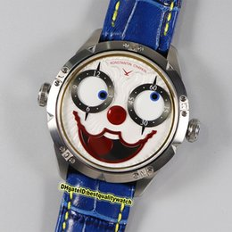 relogios automáticos exclusivos Desconto Top versão TW V3S Konstantin Chaykin Joker Único Criatividade interno azul Joker Dial NH Automatic Mens Watch Couro Correia Desporto Relógios