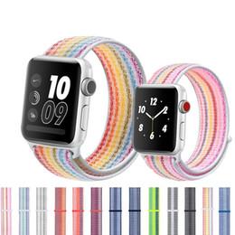 Полосатый нейлоновый спортивный ремешок для Apple Watch 1/2/3/4 Series ремешок для iWatch Smart Watch 38мм 40мм 42мм 44мм ремешок от Поставщики apple умный смотреть iwatch ремешок