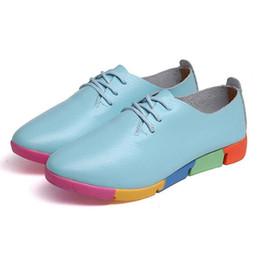 Sapatos de enfermeira feminina on-line-Primavera Nova Tamanho Grande Sapatos de Couro das Mulheres Grávidas Mulheres Sapatos Casuais Moda Enfermeira Grande Tamanho Peas Único