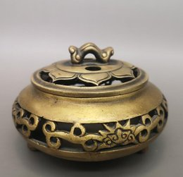 Chinese Brass Lotus Incense Burner Made During The Qianlong Period HT0023