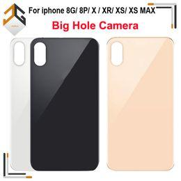 Autoadesivo della batteria di iphone online-OEM Big foro della macchina fotografica di vetro posteriore per l'iPhone 8G 8p X XR XS MAX della copertura di batteria con sticker adesivo di trasporto