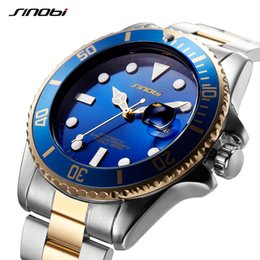 2020 genf männer geschäftsuhr SINOBI Watches Men Luxury Business Luminous Steel Band Bracelet Watches Man Mens Golden Geneva Quartz Wristwatches Gift Watch rabatt genf männer geschäftsuhr