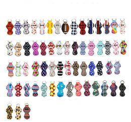 Дизайн губ онлайн-Неопрен брелок Спорт Печатный Chapstick держатель Leopard брелок Wrap губная помада Держатели для губ Обложка благосклонности партии подарков 61 Designs YW1710