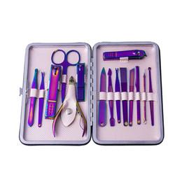 Ремни для ногтей онлайн-NEW-15 шт. / Набор маникюрных наборов Красочные маникюрные инструменты Кусачки для ногтей Инструменты для ухода за файлами Пояс для ухода за чемоданом