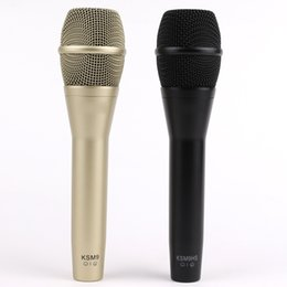 Microfone vocal on-line-KSM8 Microfone com fio KSM9 Microfone vocal cardióide dinâmico Karaokê profissional Microfone de mão para apresentação ao vivo no palco