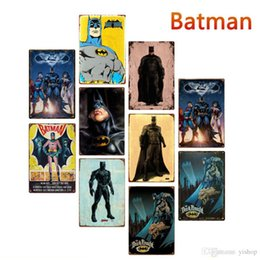 20 * 30 cm DC Justice League Batman Metallblechschilder Vintage Poster Metallplakette Club Wandkunst Metall Malerei Wanddekor Kunst Bilder von Fabrikanten
