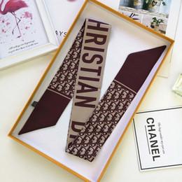 Canada Designer de luxe sac écharpe bandeau femmes soie scraves Top bandeau en soie peut pour les sacs à main foulard taille 6 * 100 cm cadeau Offre