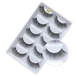 Faux faux cils naturels en Ligne-Vison 3D faux-cils maquillage amincissement naturel 5 paires de cils mous faits à la main pure 100sets / lot DHL gratuit