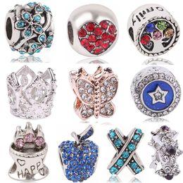 ae4aea439 Ranqin 925 Silver Color European Cinderella Pumpkin Carriage Charm Crown  Fits Original Pandora Charm Bracelet Women Gift
