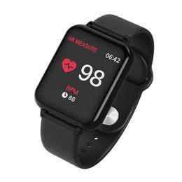 B57 akıllı saat IP67 su geçirmez SmartWatch kalp hızı çoklu spor modeli spor izci adam kadınları giyilebilir cihazlar izlemek nereden lemfo bluetooth smartwatch tedarikçiler