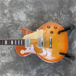 guitarra de marca rosewood Rebajas Libre de la buena calidad de la nueva marca Starshine 1959 LP caoba estándar de la guitarra eléctrica de una sola pieza de caoba diapasón de ébano cuello