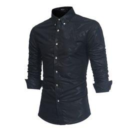 Koreanische formale kleiderhülsen online-Camisa Masculina Langarm Chemise Homme Manche Longue Männer Casual Männer Hemd Hemd Korean Slim Formal