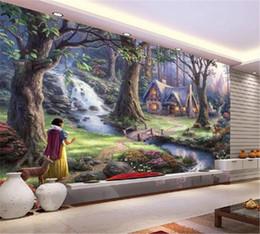Seidenfee online-Benutzerdefinierte schöne Land Landschaftsölgemälde in 3d tapete märchen wohnzimmer schlafzimmer hintergrund wand dekoration mural tapete